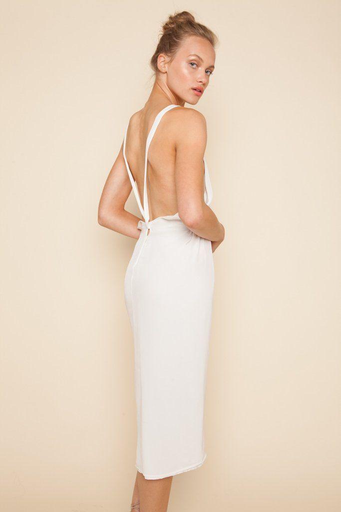 SCF exclusive HALLE dress in WHITE! #stonecoldfox #scfexclusive
