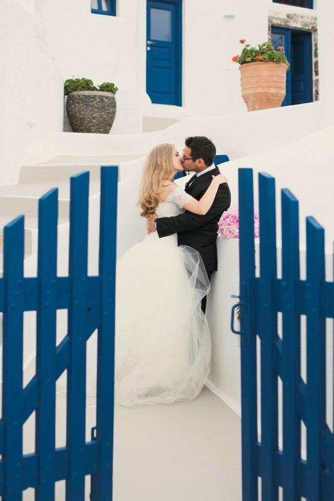 Romantic Destination Wedding in Santorini, Greece