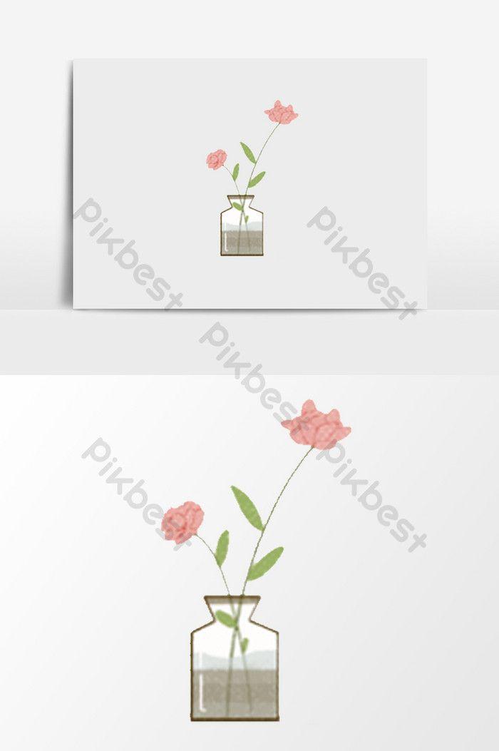 Gambar Ilustrasi Bunga Kecil Botol Kaca Tangan Ditarik Elemen Ilustrasi Bunga Kecil Ilustrasi Cara Menggambar Bunga Mawar Dengan Mud Bunga Ilustrasi Gambar