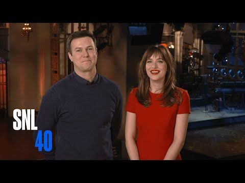 SNL: SNL Host Dakota Johnson and Taran Killam Beg Her Mom To Watch Fifty Shades of Grey