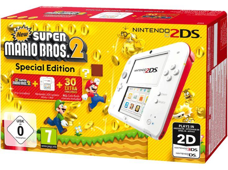 cool NINTENDO 2DS rouge / blanc + New Super Mario Bros 2 chez Media Markt Plus de jeux ici: http://www.paradiseprivatehospital.com/boutique/non classé/nintendo-2ds-rouge-blanc-new-super-mario-bros-2-chez-media-markt/