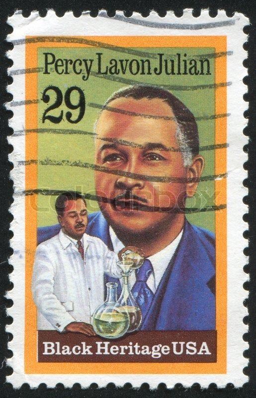 Editorial image of 'UNITED STATES - CIRCA 1993: stamp printed by United states, shows Percy Lavon Julian, circa 1993'