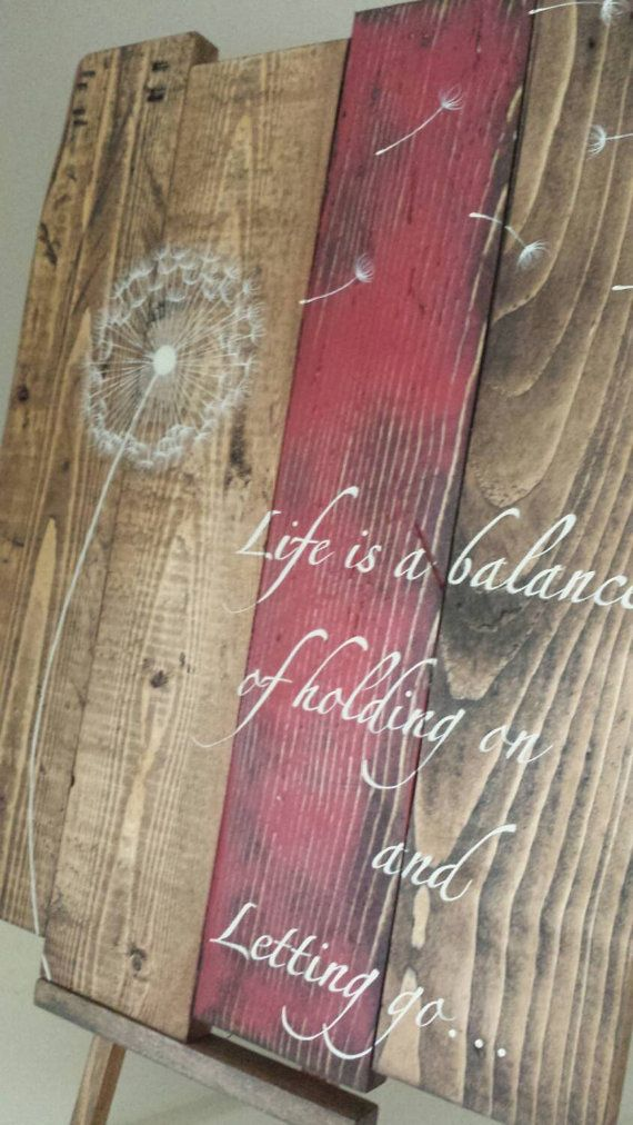 Reclaimed rustic pallet wood sign Life is a by TinHatDesigns