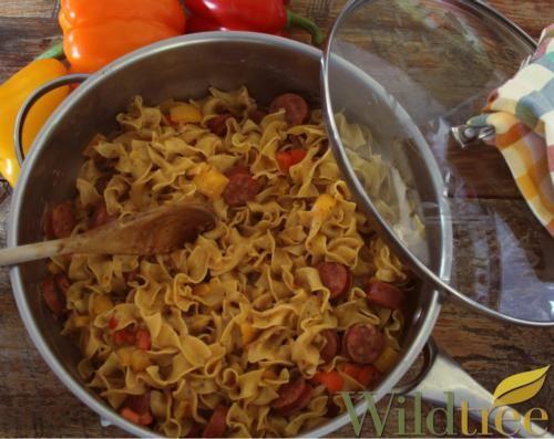 Smoked Mozzarella Sausage & Peppers - Wildtree Recipes