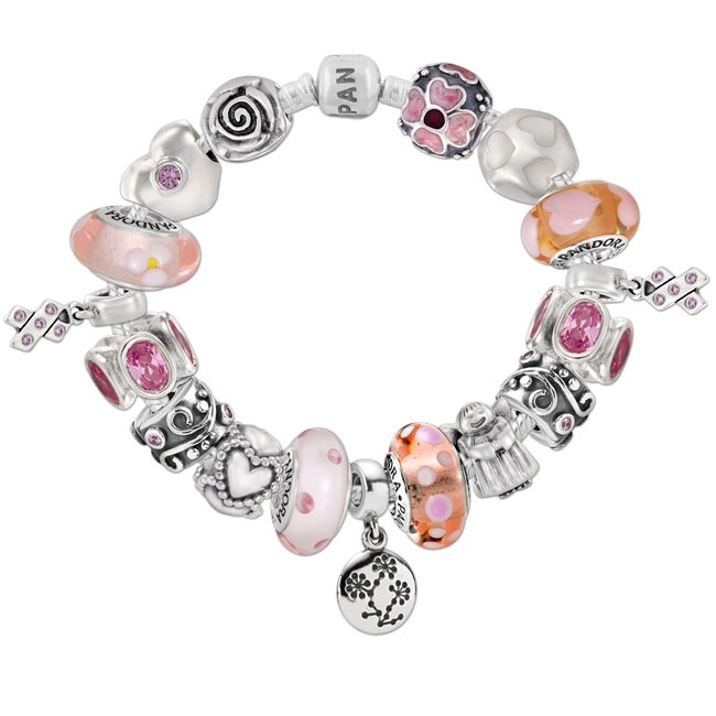 ethnic breast awareness jewelry