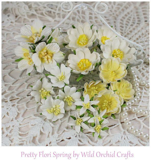 Moja papierowa kraina: Pretty Flori Mixed White