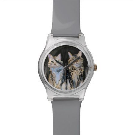 Marble Meows Cats Watch - click to get yours right now! #catlover #catloversgift #watch #bengalcat #bengal #CatArt #watches #fashion #jewellery