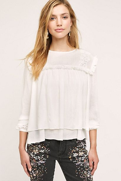 Celosia Tiered Blouse #anthropologie