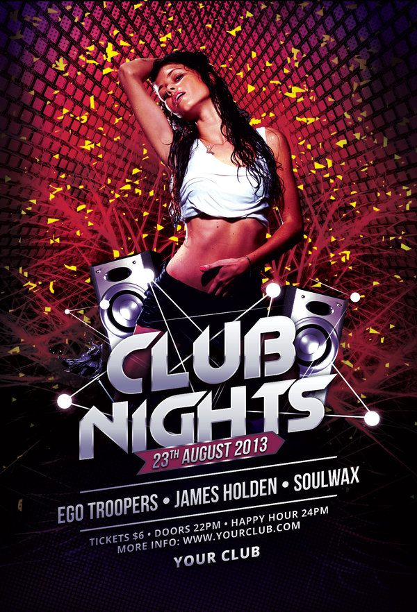 81 best Club Flyer Templates images on Pinterest Design posters - flyer samples for an event