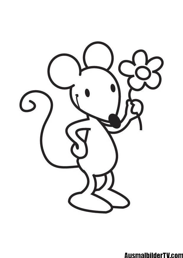 Ausmalbilder Maus Applikationen Pinterest Coloring Pages
