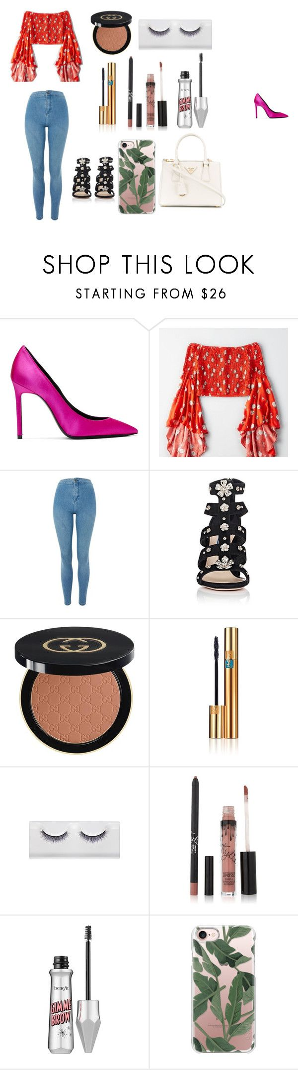 """""""Tropical Goddess"""" by indiac-joseph on Polyvore featuring Yves Saint Laurent, American Eagle Outfitters, Topshop, Prada, Gucci, Benefit and Casetify"""