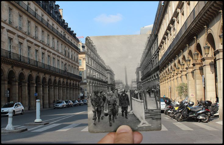 The Liberation Of Paris, Then And Now: 24 Haunting Images That Blend The Past And Present