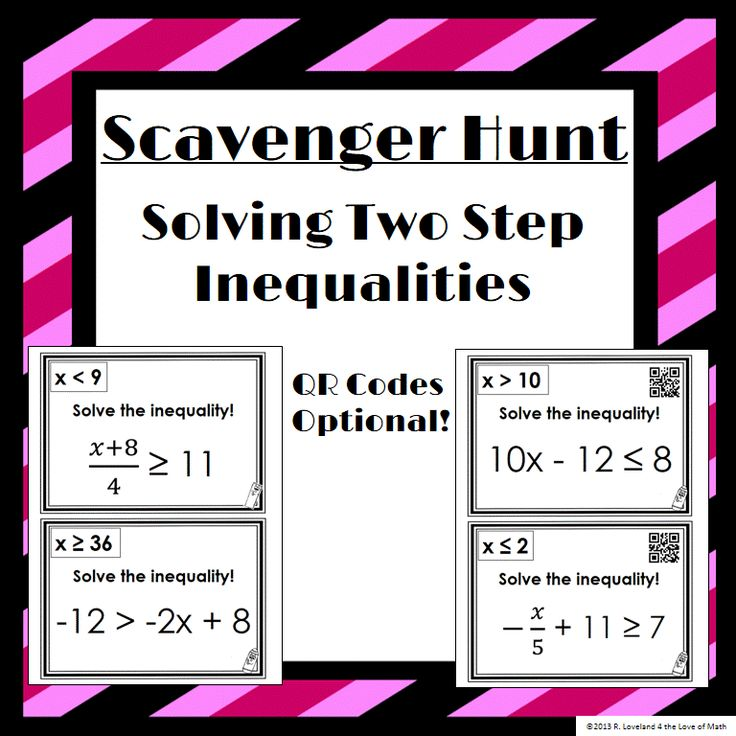 183 best education math curriculum ideas images on pinterest solving two step inequalities scavenger hunt 14 questions to hang around the room recording fandeluxe Images