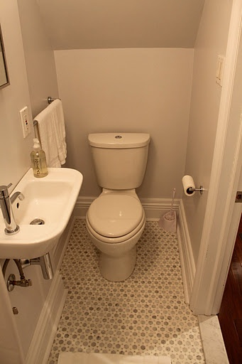 Photos Of Small powder room note the half size but still stylish sink Shower on the other side A doable small bath design