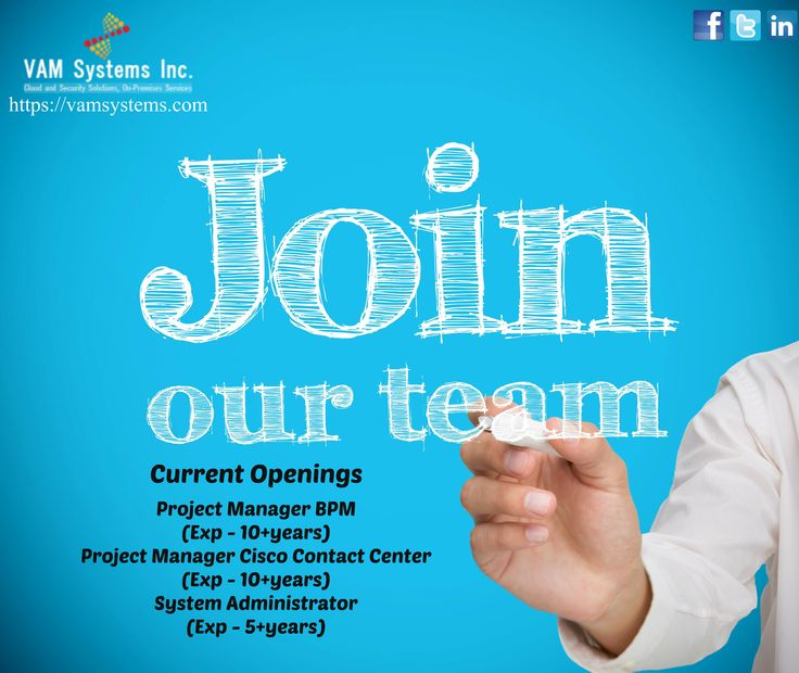 Wanted 1. Project Manager BPM  2. Project Manager Cisco Contact Center 3. System Administrator Location - Qatar Should you be interested in this opportunity, please send your latest resume in MS Word format at the earliest at joinus@vamsystems.com or call us +91 471 2766011 or +91 476 2681150. VAM Systems- Cloud & Security Solutions, On-Premise Services Visit us @ https://vamsystems.com