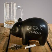 "i so need this pig in my room right now...  ""CapitaLIST Pig Chalkboard Piggy Bank - $20"""