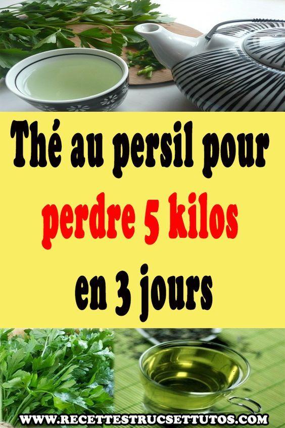 Thé au persil pour perdre 5 kilos en 3 jours   Persil pour