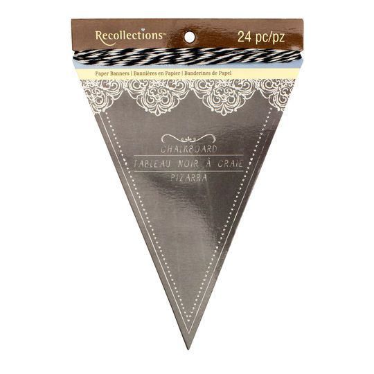 Black Chalkboard Paper Banners by Recollections™
