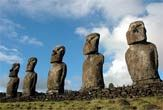 Some of Easter Island's famous stone Moai statues stood more than 30 feet high and weighed up to 82 tons.