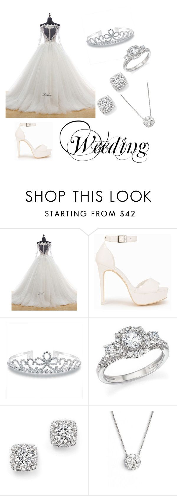"""Weeding- Princess"" by gabydesigner on Polyvore featuring Nly Shoes, Bling Jewelry, Bloomingdale's and Bony Levy"