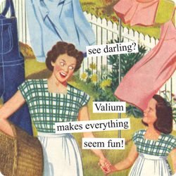 I can still remember when my mother told me to ask my Dr for some Valium when I was stressed out! lol I bet that would have fixed me right up!