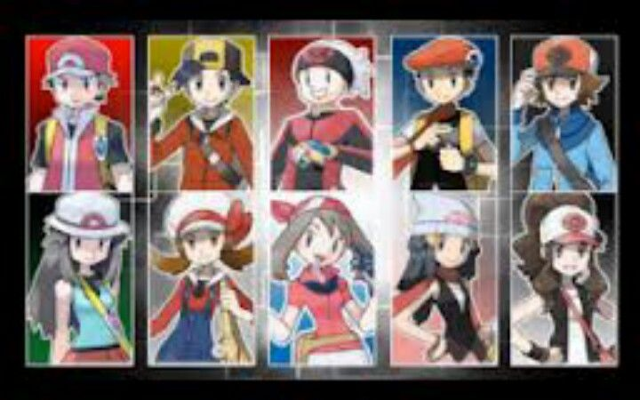 All Pokemon Game Main Characters Images | Pokemon Images
