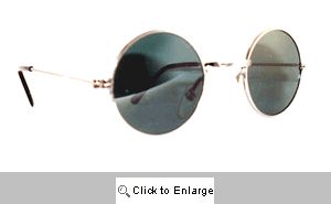 Lennon Round Metal Mirrored Sunglasses - 143A