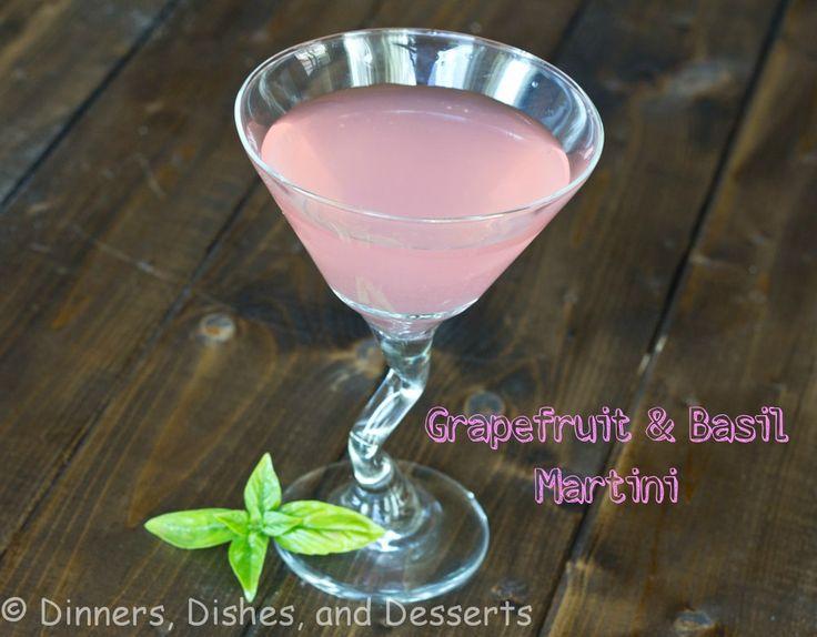 Pink Grapefruit & Basil Martini