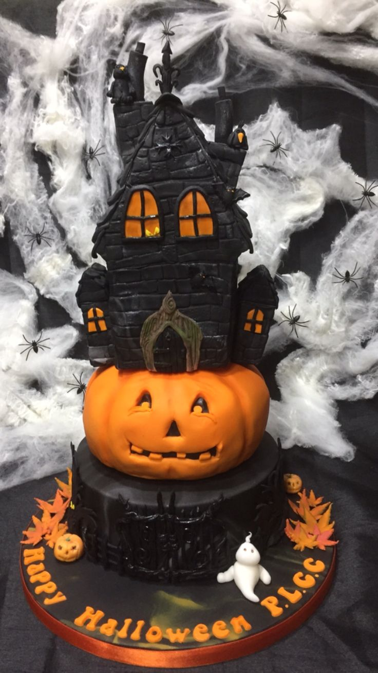 57 best halloween cake ideas images on pinterest for Easy halloween cakes to make at home