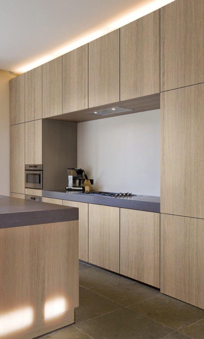 Kitchen Cabinet Interior Design: Wood Veneer Sheets Kitchen