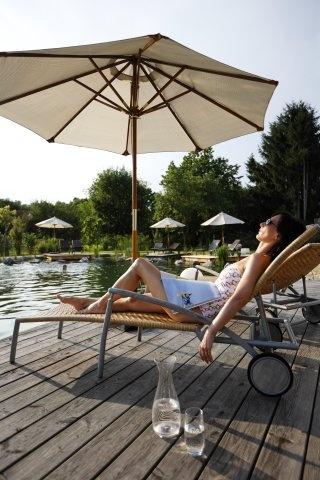 Erholung im Garten Hotel Ochensberger.