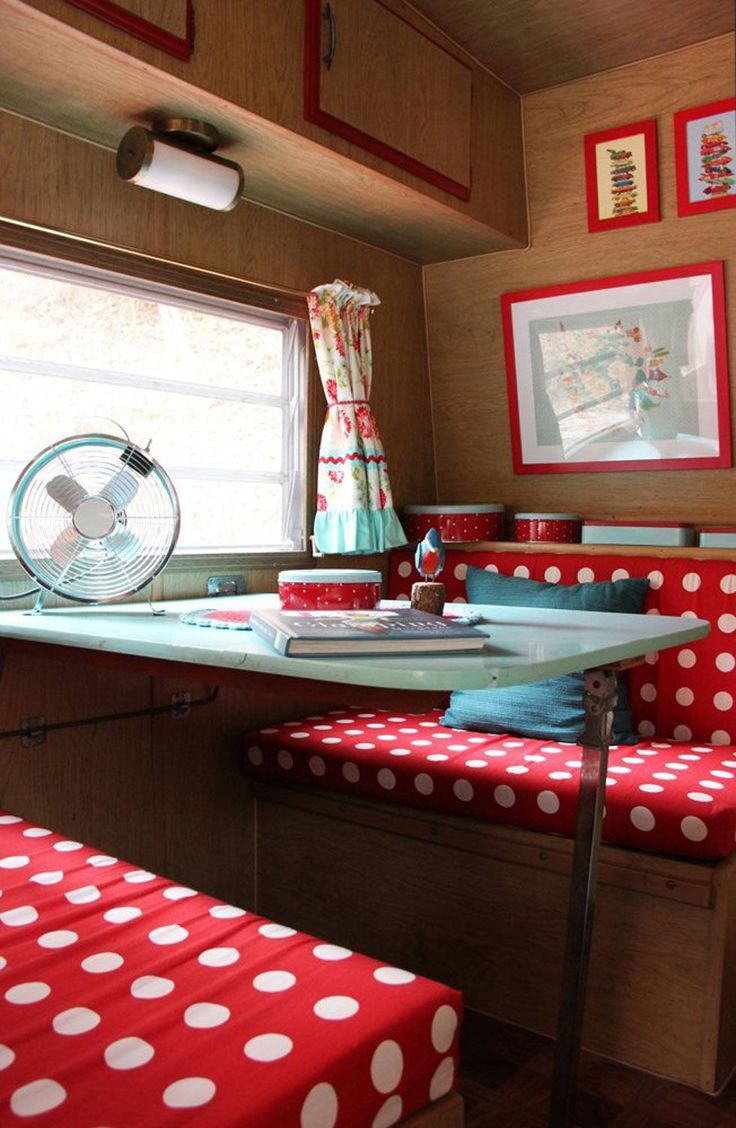 Retro camper curtains - Step Inside This Colorful And Charming Retro Camper