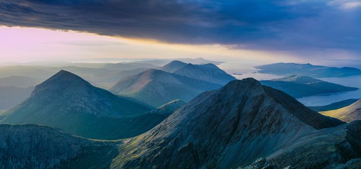 Marsco Garbh bheinn Red Black Cuillin Blaven Skye Scotland by Colin Prior - Isle of Skye
