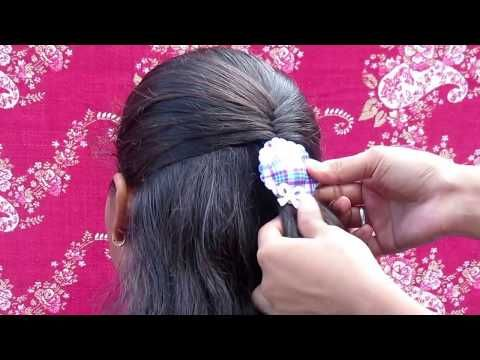 Easy Fishtail hairstyle || 2 min fishtail hairstyle for collage girls - YouTube