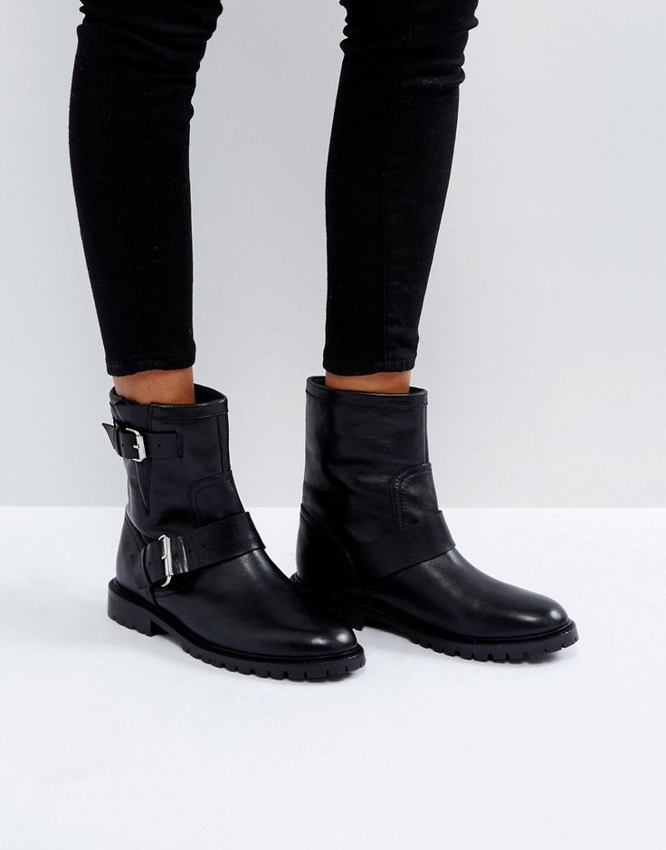 Office Ammunition Biker Boots - Black