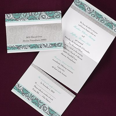 17 Best Images About Damask Wedding Invitations On Pinterest