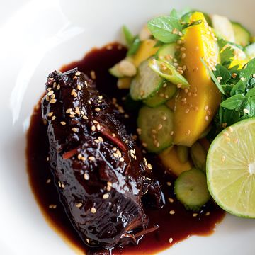 Recipes by Bruno Loubet | FOUR Magazine - sweet soy braised beef cheeks made it! perfect! totally gorgeous.