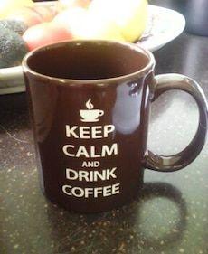 keep calm and drink coffee white printed brown ceramic mug in Lander - letgo