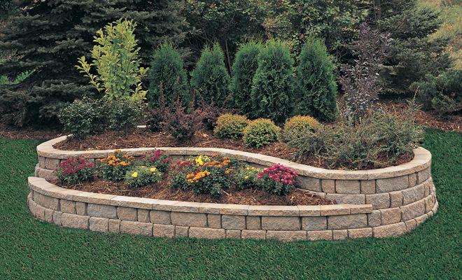 small retaining wall ideas | Anchor™ Meadow Stone® Retaining Wall, Small | | Pavestone