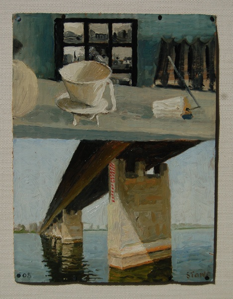 Simon Stone Nile River and Still Lifeoil on cardboard310mm x 300mmLondon Exhibition 2010