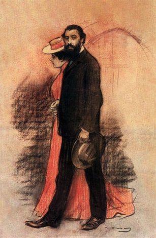 Pedro Romeau házasságkötése by Ramón Casas