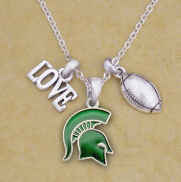 Finely crafted, this wonderful necklace will make a great addition to any Spartan fan's jewelry collection. Buy for yourself or as a great gift for family and friends! This wonderful necklace is offic