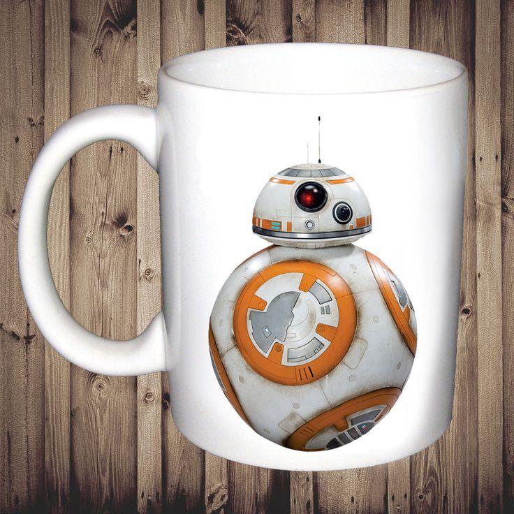 Star Wars BB8 Mug The Force Awakens Birthday Christmas Gift Present Tea Cup by ThePrintingCabin on Etsy