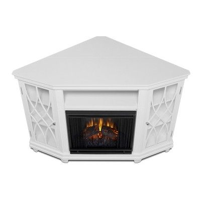 Real Flame Lynette Electric Fireplace Entertainment Center - White