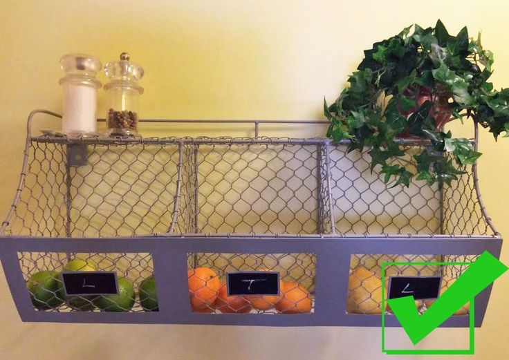 Our 3 BIN CHICKEN WIRE ORGANIZER hangs on your wall via 2 fish eye hooks and includes a shelf for even more storage and organization. The sturdy and substantial wall bin measures Accessories not included. | eBay!