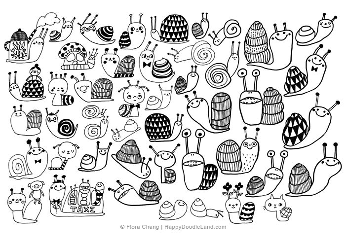 Snail Sketches © Flora Chang | Happy Doodle Land.png