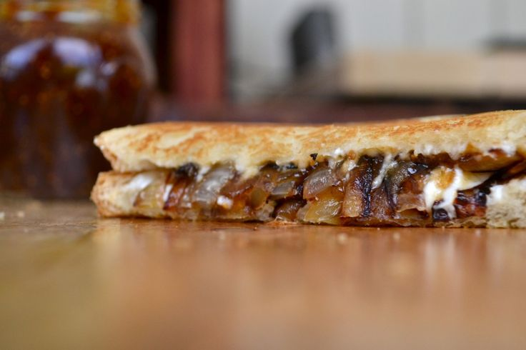 Goat Cheese,Caramelized Onion and Fig Jam Grilled Cheese-mother of ...