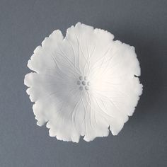Grace White Porcelain Flower Sculpture