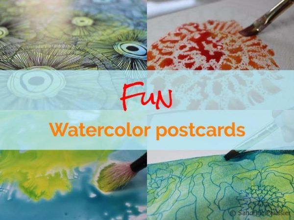 When you want to learn new techniques, it can be a good idea to try themon postcard sized watercolor paper. Itis quickly painted and makes a nice gift. Here are a few techniques you can try to make watercolor and mixed media postcards. Salt textures Paint a wash on the paper and sprinkle salt when …