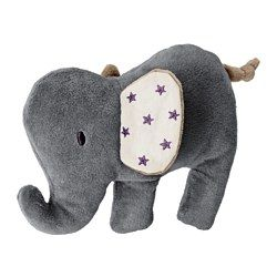 IKEA - CHARMTROLL, Soft toy, , The elephant squeaks when squeezed, stimulating your baby's hearing.Stimulates your baby's vision and perception of touch as the elephant is made from different materials. Touching the ear makes a rustling sound.Can handle when your baby plays rough and is easy to wash and tumble-dry.